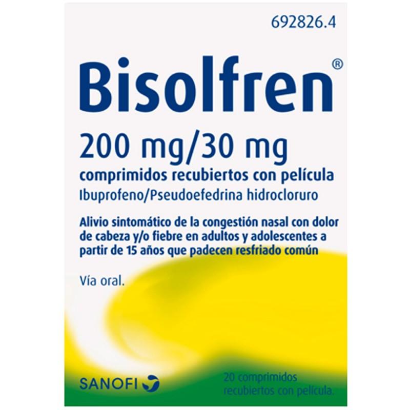 Bisolfren 20 comprimidos recubiertos