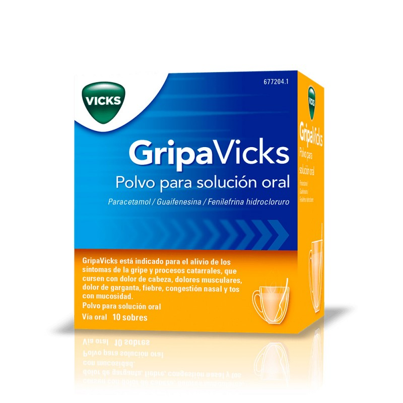 Vicks Gripa solución oral 10 sobres